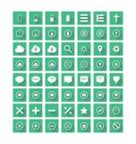 Плоские установленные значки Стоковые Изображения