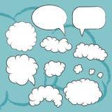 Плоские установленные пузыри Иллюстрация вектора