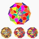 Плоские этнические красочные геометрические плитки орнамента Стоковое фото RF