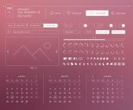 Плоские элементы вебсайта UI Стоковая Фотография