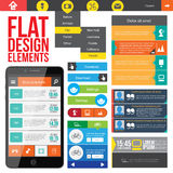 Плоские элементы веб-дизайна. Стоковые Фотографии RF