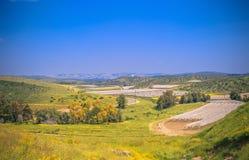 Плоский ландшафт в Израиле Стоковое Изображение RF