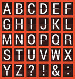 Плоский алфавит комплекса предпусковых операций ABC Стоковые Фото