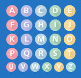 Плоский вектор значков алфавита, плоские значки, типографские, характер ABC Стоковое фото RF
