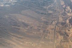 Плоский взгляд гор между Аризоной и Невадой Стоковые Фото
