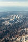 Плоский взгляд гор между Аризоной и Невадой Стоковое фото RF