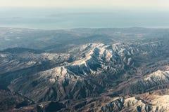 Плоский взгляд гор между Аризоной и Невадой Стоковое Фото