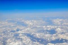 Плоский взгляд на гребнях снега Стоковое Фото