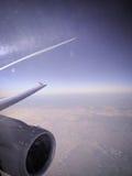 Плоский двигатель, в полете Стоковые Фотографии RF