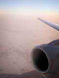 Плоский двигатель, в полете Стоковые Изображения