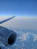 Плоский двигатель, в полете Стоковое Фото