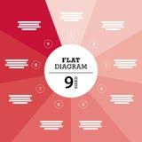 Плоский геометрический шаблон диаграммы для вашего представления дела с текстовыми участками и значками Стоковое фото RF
