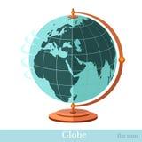 Плоский глобус значка Стоковые Фотографии RF