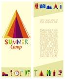 Плоский летнего лагеря Стоковые Фотографии RF