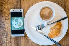 Плоский завтрак положения Стоковое фото RF