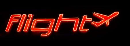 Плоский знак на ноче Стоковые Фото