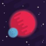 Плоский значок космоса Стоковые Фото