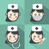 Плоский значок медсестры дизайна иллюстрация вектора