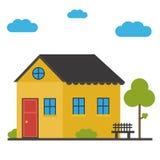 Плоский значок дома Стоковое Фото
