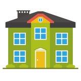 Плоский значок дома Стоковое Изображение