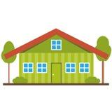 Плоский значок дома Стоковое фото RF