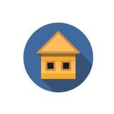 Плоский значок дома Стоковые Фотографии RF