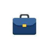 Плоский значок портфеля Стоковая Фотография RF
