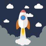 Плоский значок ракеты дизайна Стоковые Изображения RF
