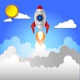 Плоский значок ракеты Стоковое Фото