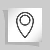 Плоский значок стиля отрезка бумаги указателя карты Стоковая Фотография