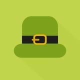 Плоский значок стиля с длинной тенью зеленый st Стоковая Фотография