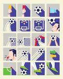 Плоский значок футбола Стоковые Фото