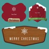 Плоский дизайн комплекта значка для рождества Стоковая Фотография RF