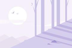 Плоский дизайн Лес Стоковое фото RF