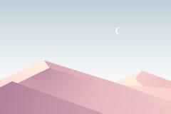 Плоский дизайн пустыня Стоковые Фото