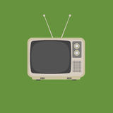 Плоский дизайн ретро винтажного телевидения иллюстрация штока