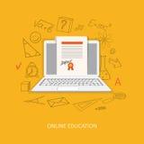 Плоский дизайн для онлайн образования Стоковые Фотографии RF