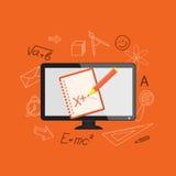Плоский дизайн для онлайн образования Стоковая Фотография