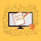 Плоский дизайн для онлайн образования Стоковые Изображения