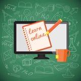 Плоский дизайн для онлайн образования Стоковое Фото