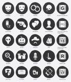 Плоский комплект значка жанров и системы рейтинга фильма Стоковые Фото