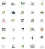 Плоский комплект значка покупок Стоковое Изображение RF