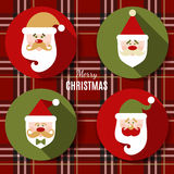 Плоский комплект значка рождества Стоковое Фото