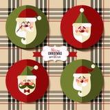 Плоский комплект значка рождества Стоковые Фотографии RF