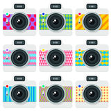 Плоский комплект стиля камер Стоковые Изображения