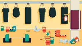 Плоский красочный спортзал Стоковое Фото