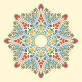 Плоский круглый декоративный орнамент Стоковые Фото