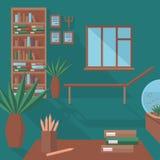 Плоский офис психолога бесплатная иллюстрация
