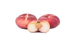 плоский персик Стоковые Изображения