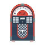 Плоский ретро музыкальный автомат бесплатная иллюстрация